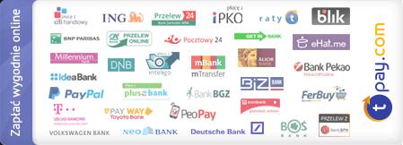 Płatności internetowe zapewnia serwis tpay.com