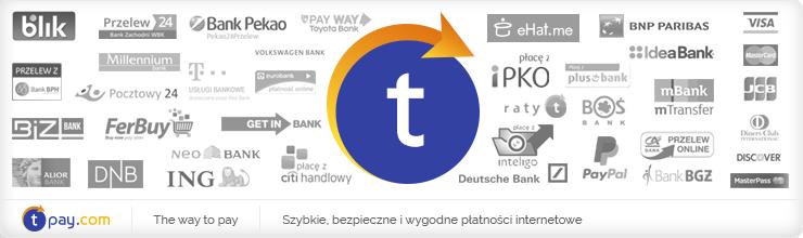 Umożliwiamy szybkie płatności internetowe za pomocą serwisu tpay.com