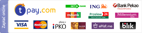 Wygodę i duży wybór metod płatności zapewnia Transferuj.pl